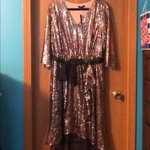 Lane Bryant Rose Gold Sequin Dress 18/20 NWT